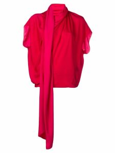 Poiret pleated blouse - Red
