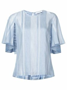 Kimora Lee Simmons striped ruffle blouse - Blue