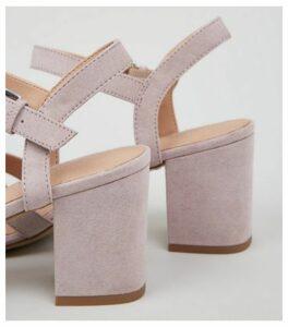 Lilac Comfort Flex Low Block Heel Sandals New Look
