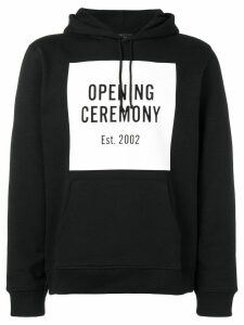 Opening Ceremony logo print hoodie - Black