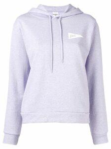 A.P.C. logo print hoodie - Purple