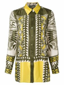 Alberta Ferretti multi-pattern print shirt - Yellow