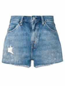 Levi's Vintage Clothing distressed denim shorts - Blue
