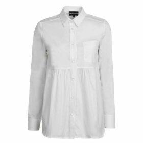 Emporio Armani Ruched Waist Long Sleeve Shirt