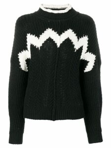 Isabel Marant detailed knit jumper - Black