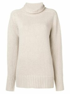 Joseph oversized roll neck knitted sweater - NEUTRALS