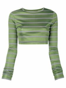 Marc Jacobs longsleeved cropped jumper - Green