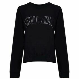 Emporio Armani Drawstring Hem Logo Sweatshirt