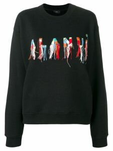 Alanui embroidered logo sweater - Black