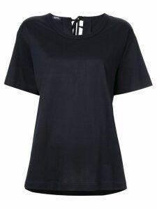 Jil Sander Navy short-sleeve fitted T-shirt - Blue