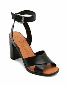 Dolce Vita Women's Nala Block Heel Leather Sandals