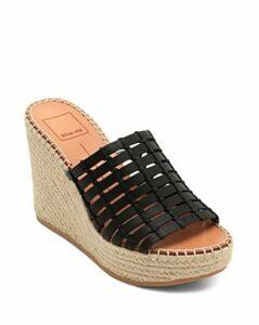 Dolce Vita Women's Prue Leather Wedge Espadrille Sandals