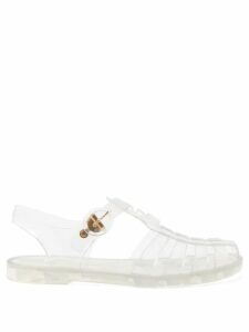 Raf Simons - Cut-out Metallic Ribbed-knit Sweater - Womens - Silver