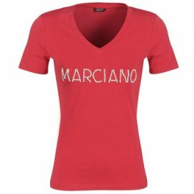 Marciano  LOGO PATCH CRYSTAL  women's T shirt in Red