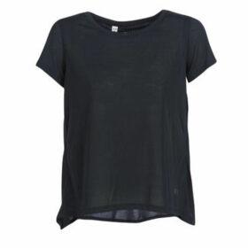 Under Armour  WHISPERLIGHT SS FOLDOVER  women's T shirt in Black