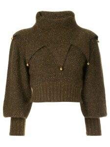 Chanel Pre-Owned funnel neck jumper - Brown
