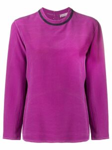 Versace Pre-Owned 1990's long-sleeve blouse - Purple