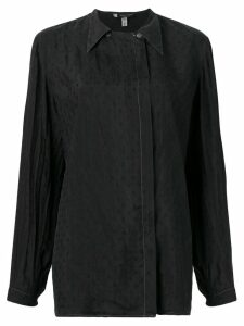 Giorgio Armani Pre-Owned 1990's pointed collar shirt - Black