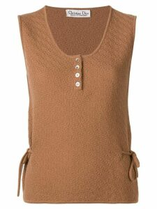Christian Dior Pre-Owned 1970's knitted top - Brown