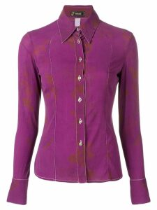 Versace Pre-Owned 2000's slim-fit shirt - PURPLE