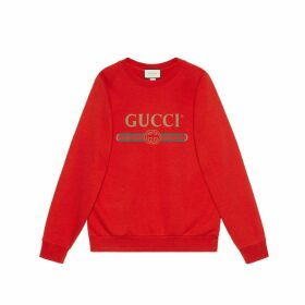 Oversize sweatshirt with sequin patches