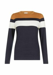 Kerri Merino Wool Sweater Navy Multi L