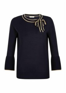 Jess Sweater Navy Camel XS