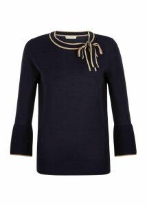 Jess Sweater Navy Camel