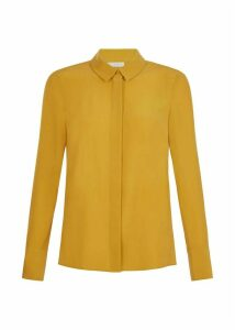Odette Silk Shirt Mustard