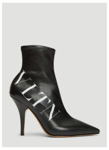 Valentino VLTN Leather Sock Boots in Black size EU - 37