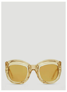 Kuboraum Maske W2 Double Layer Sunglasses in Brown size One Size