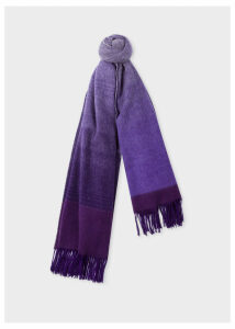Women's Violet Ombré Lambswool And Cashmere Scarf