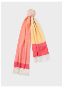 Women's Pink And Yellow Ombré Lambswool And Cashmere Scarf