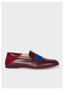 Women's Burgundy Leather 'Freda' Loafers