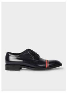 Women's Dark Navy Leather 'Chester' Flexible Travel Shoes With Grosgrain 'Artist Stripe' Detail