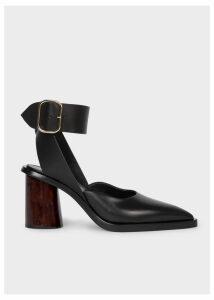 Women's Black Leather 'Gaia' Sandals