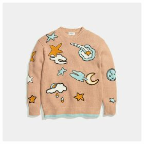 Coach Outerspace Intarsia Sweater