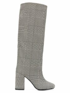 Mm6 Maison Margiela houndstooth check boots - Black