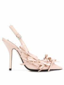 Nº21 bow embellished slingback pumps - Pink