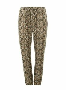 Womens **Dp Curve Multi Coloured Snake Print Brushed Joggers, Multi