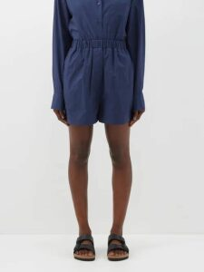 Balenciaga - Swing Patchwork Print Panel Silk Blouse - Womens - Red Multi