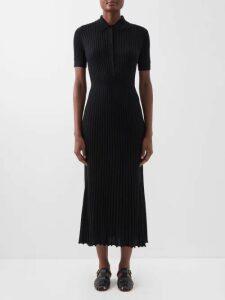 Balenciaga - Logo Jacquard Cardigan - Womens - Black White