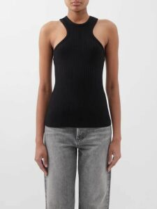 Frame - Paperbag Waist Linen Blend Shorts - Womens - Navy