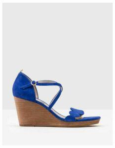 Bethany Wedges Blue Women Boden, Blue