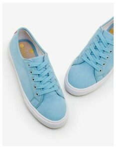 Canvas Plimsolls Blue Women Boden, Blue