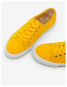 Canvas Plimsolls Yellow Women Boden, Yellow
