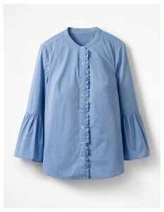 Bell Sleeve Shirt Blue Women Boden, Blue