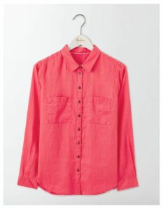 The Linen Shirt Pink Women Boden, Pink