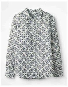 The Linen Shirt Ivory Women Boden, Ivory