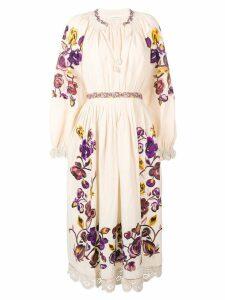 Ulla Johnson embroidered floral dress - NEUTRALS